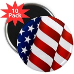 Mini Button (10 pack) Americam Flag